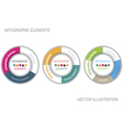 Modern infographic template with circle vector image