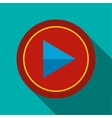 Play button icon in flat style vector image
