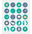 Pregnancy and birth icons set vector image