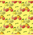 seamless pattern of colorful fruit juice vector image