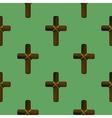 Wood Cross Seamless Pattern vector image