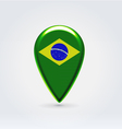 Brazilian icon point for map vector