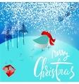 Santa Claus brought a bad gift Angry bird vector image