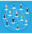 Pixel people social connection vector image vector image