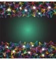 rainbow stars with lights vector image