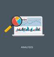 web analytics information and development website vector image