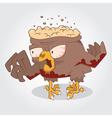 Zombie bird vector image