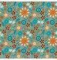 Scandinavian wild flowers seamless pattern vector image
