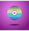 CD on a purple background vector image