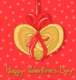 Card for Valentines Day with cookie vector image
