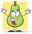Happy Green Pear vector image