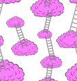 Clouds with stairs seamless wallpaper vector image