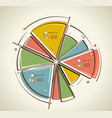 flat design of business pie chart vector image