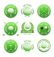 golf club banners and badges set vector image