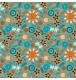 Scandinavian wild flowers seamless pattern vector image