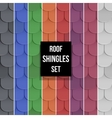 Set of Shingles roof seamless patterns vector image