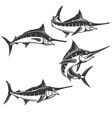 swordfish icons isolated on white background vector image