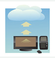 cloud uploading vector image