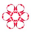 Flowers ribbon vector image