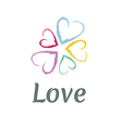 LOVE Happy Valentines day icon vector image
