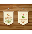 Merry Christmas flag concepts design set vector image vector image