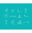 set of linear sport icons vector image vector image