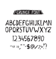 Grunge tough simple font Universal alphabet vector image