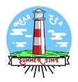 Color vintage summer season emblem vector image