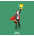 Business success isometric flat concept vector image