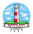 Color vintage summer season emblem vector image