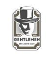 gentleman exclusive club vintage label vector image