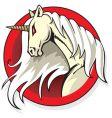 mythical unicorn vector image