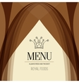 Restaurant menu design crown royal foods vector image