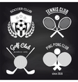 Set of sport banners on chalkboard vector image