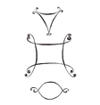 Three Hand Drawn Frames vector image