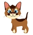 Cute ginger cat with blue eyes cartoon pet vector image
