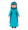 islamic woman culture icon vector image