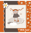 Happy Birthday daisies vector image