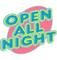 Open All Night elemtns vector image vector image