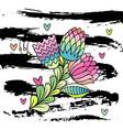 hand drawn stylish flower vector image