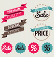 Set of stickers and ribbons vector image vector image