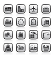 Cargo and logistic icons vector image