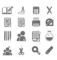 tools learning icon set 2 vector image