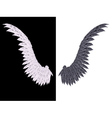 White and Black Wing2 vector image vector image