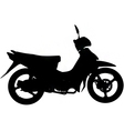 moped silhouette vector image