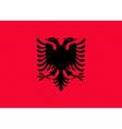 Albanian flag vector image vector image