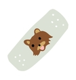 Cartoon medical patch for kids flat icon vector image