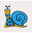 Gentleman cartoon snail with tie vector image