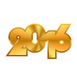 Golden New Year Numbers vector image