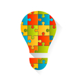 Idea Lamp Puzzle Background vector image